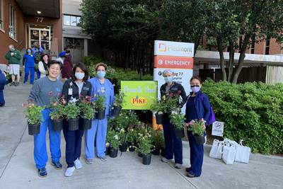 Tad & Drex Mornings: Pike Nurseries surprise nurses, doctors and caregivers with a little bit of green to brighten their day