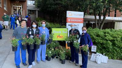 Tad & Drex Mornings:Pike Nurseries surprise nurses, doctors and caregivers with a little bit of green to brighten their day