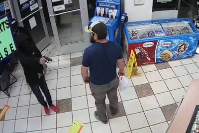 Watch: Armed gas station robbery foiled by Marine veteran